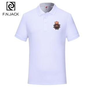 Image 3 - F. n. JACK Trend Classica Polo Camicia di Cotone Del Manicotto Del Bicchierino di Magliette e camicette Per Uomo casual di Estate di Colore Solido Polo
