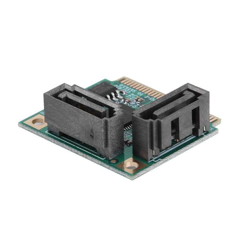 2 Ports Hard Drive Extension Card Add-on Cards Mini PCI-E PCI Express To SATA 3.0 Micro Card For Computer PC Computer Components