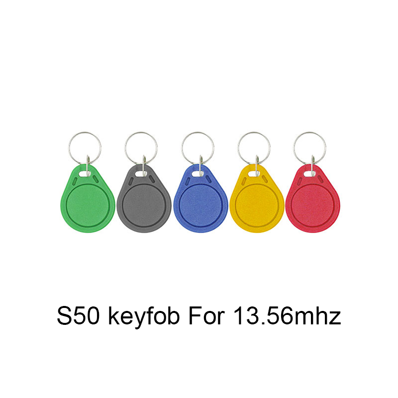13.56MHz IC M1 S50 RFID Key Tag Card Token Attendance Management Keychain ABS Waterproof Keyfobs Tags 5/10pcs