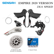 SENSAH EMPIRE Road Bike 2*11 Speed  Bicycle Shifter Lever Rear Derailleur Groupset Cassette Flywheel KMC Chain ST 2400 ST 3503