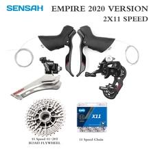 Sensah império bicicleta de estrada 2*11 velocidade shifter alavanca traseira desviador groupset cassete volante kmc corrente ST 2400 ST 3503