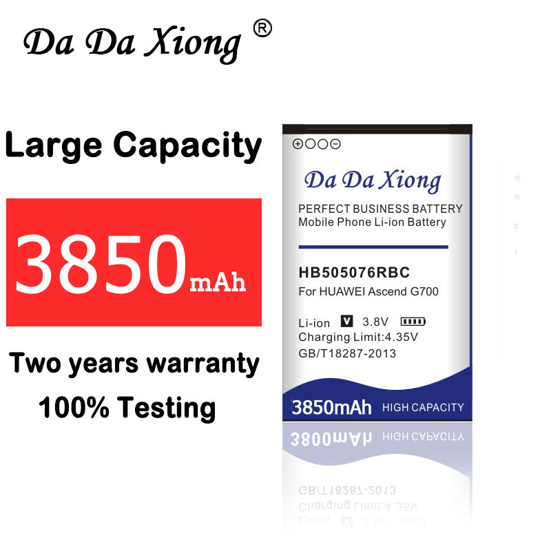 Alta Qualidade 3850mAh Bateria para Huawei A199 HB505076RBC G700 G710 Y600 C8815 G610 G610T G610S G716 G606 Y3 II Y3 2 Y3II telefone