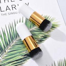 1pc Professional Chubby Pier Foundation Pinsel Make-Up Pinsel Flach Creme Make-Up Pinsel Professional Kosmetische Make-up Pinsel