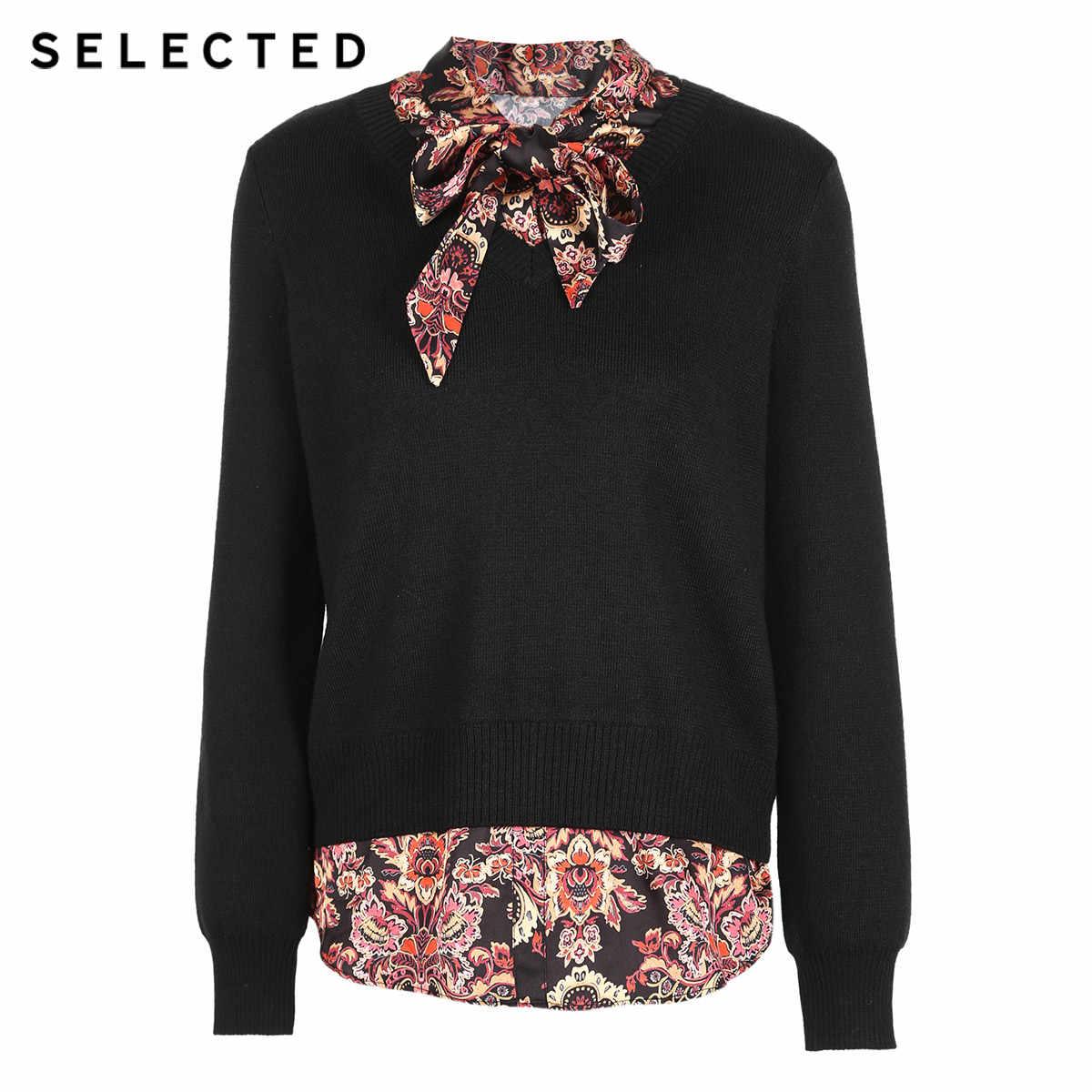 Выбранный женский свитер с вышивкой из смесовой шерсти S | 418424513