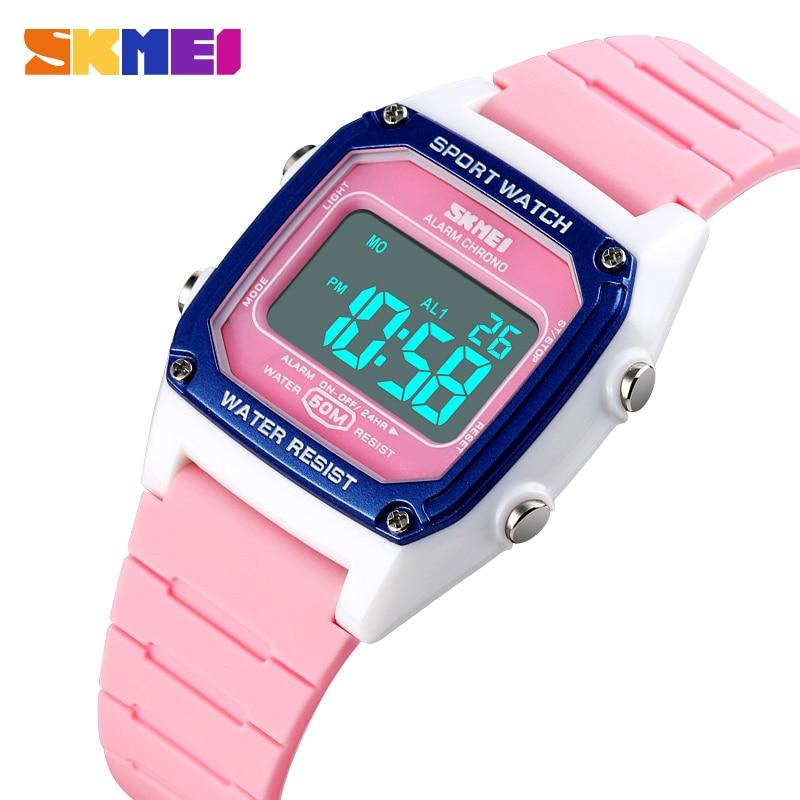 SKMEI Sport Kids Watches Fashion Digital Children's Girl Boy Watch Stopwatch Alarm Clock Waterproof Luminous Montre Enfant 1614