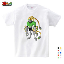 Ben 10 Cartoon Funny T Shirt Kids Summer Cartoon T-shirt Tops for Boy Girls Clothing Children White Funny  Kids T Shirt Clothes