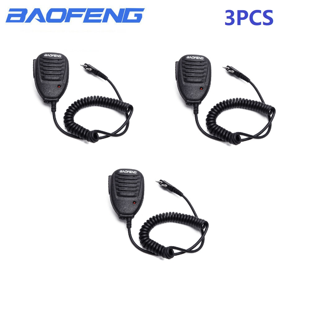 2 Way Radio Speaker Mic Microphone PTT For Baofeng UV-5R UV-82 88 Walkie Talkie Brand New And High Quality Microphone