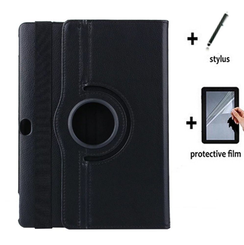 Rotating 360 Degree Leather Case Cover + Screen Protector Film + Stylus For Huawei MediaPad M2 10.0 M2-A01L/A01M M2-A01W Tablet image