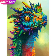 MomoArt Diy Diamond Painting Animal Embroidery Mosaic Full Square/round Rhinestone Home Decoration