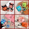 For AirPods Case Cute 3D Cartoon Kawaii Earphone Case For Airpods 2 Soft Silicone Headset Protect Cover With Finger Ring Strap