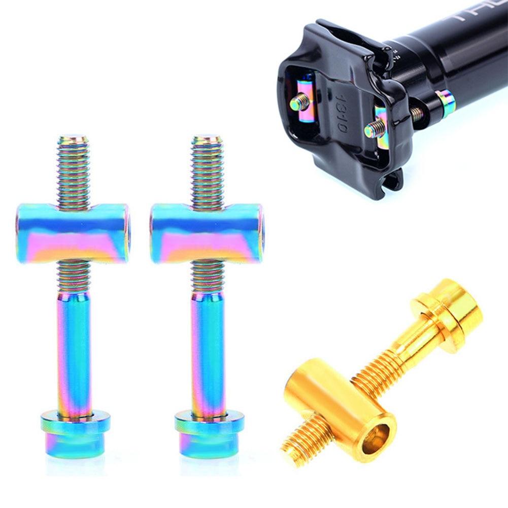2 Set Titanium M5 x 30mm Screw Bolt Nut Washer for Thomson Seat post Seatpost