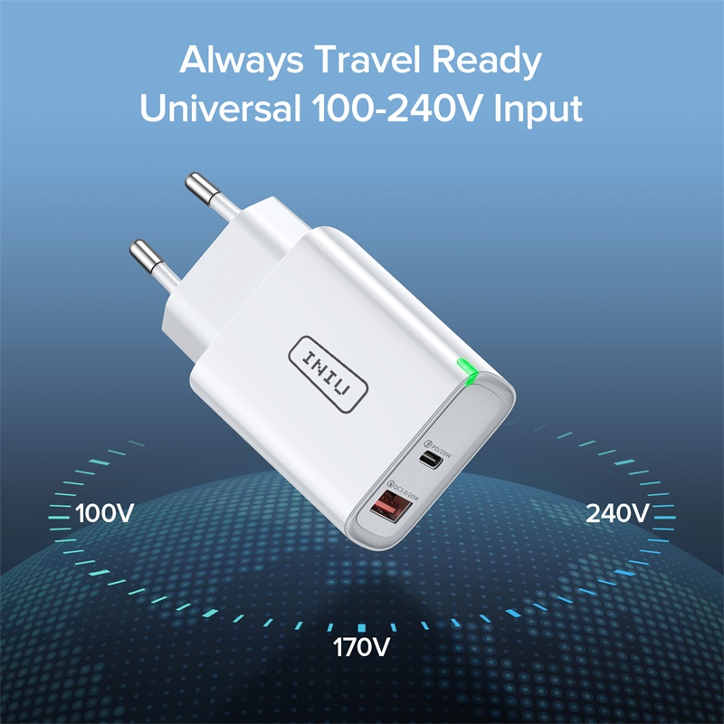 INIU PD 20W USB Type C Charger EU Adapter Fast Phone Charge For iPhone 12 11 X Xs Xr Pro Max 6 7 8 iPad Huawei Xiaomi LG Samsung 5