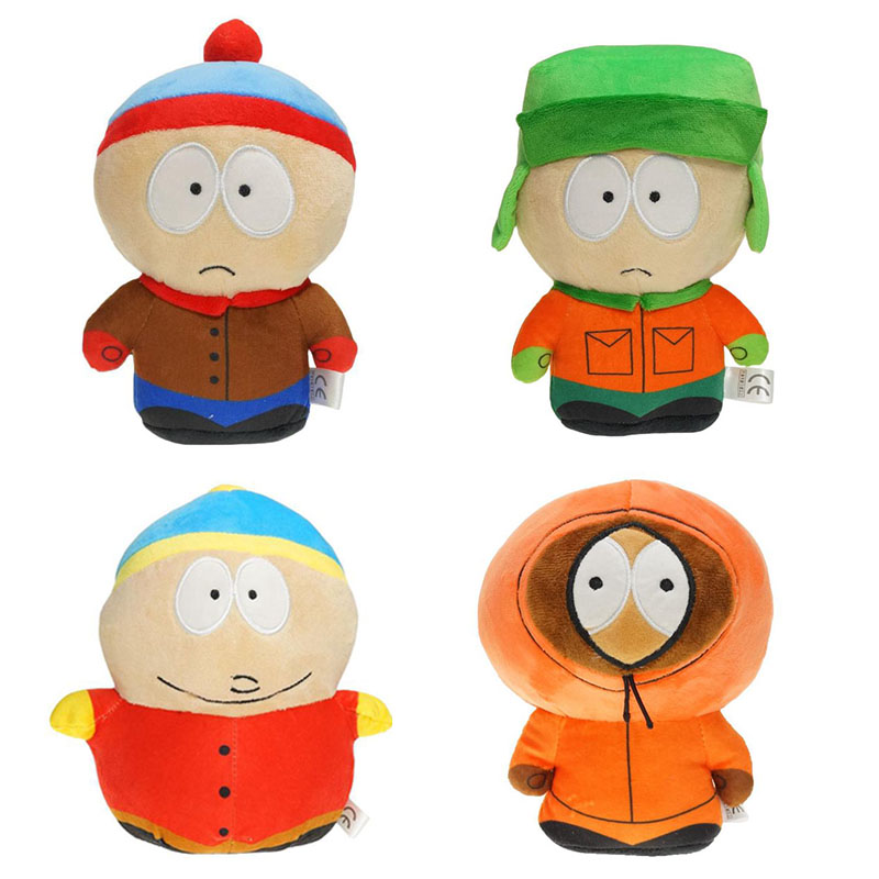 18-20cm Game-Doll Plush Toy Cartoon Stan Kyle Kenny Cartman Soft Stuffed Plush Doll Toys For Children Birthday Christmas Gifts
