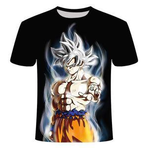 New 2019 Men's 3D T-shirt Dragon Ball Z Ultra Instinct Goku Super Saiyan God Blue Vegeta Printed Cartoon Summer T-shirt Size 6XL