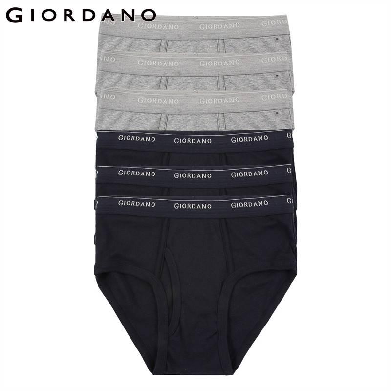 Giordano Homens Roupa Interior Dos Homens Briefs 6pcs Sólidos Underwear Homens Ropa Interior Hombre Calzoncillos Cuecas Homens De Algodão Cueca Masculina
