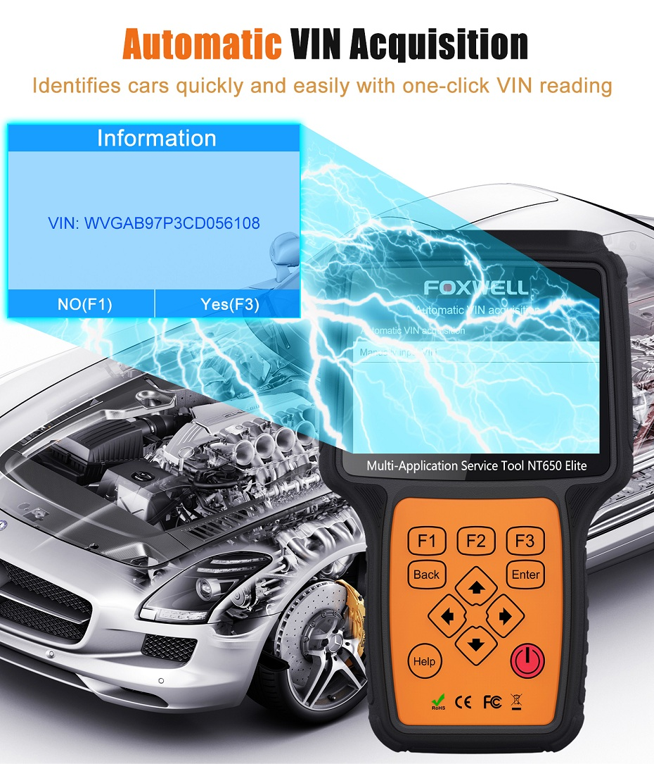 Image 4 - FOXWELL NT650 Elite OBD2 Car Diagnostic Tool ABS SRS Airbag SAS EPB Oil Service DPF TPMS Reset Special function OBDII Scanner-in Air Bag Scan Tools & Simulators from Automobiles & Motorcycles on