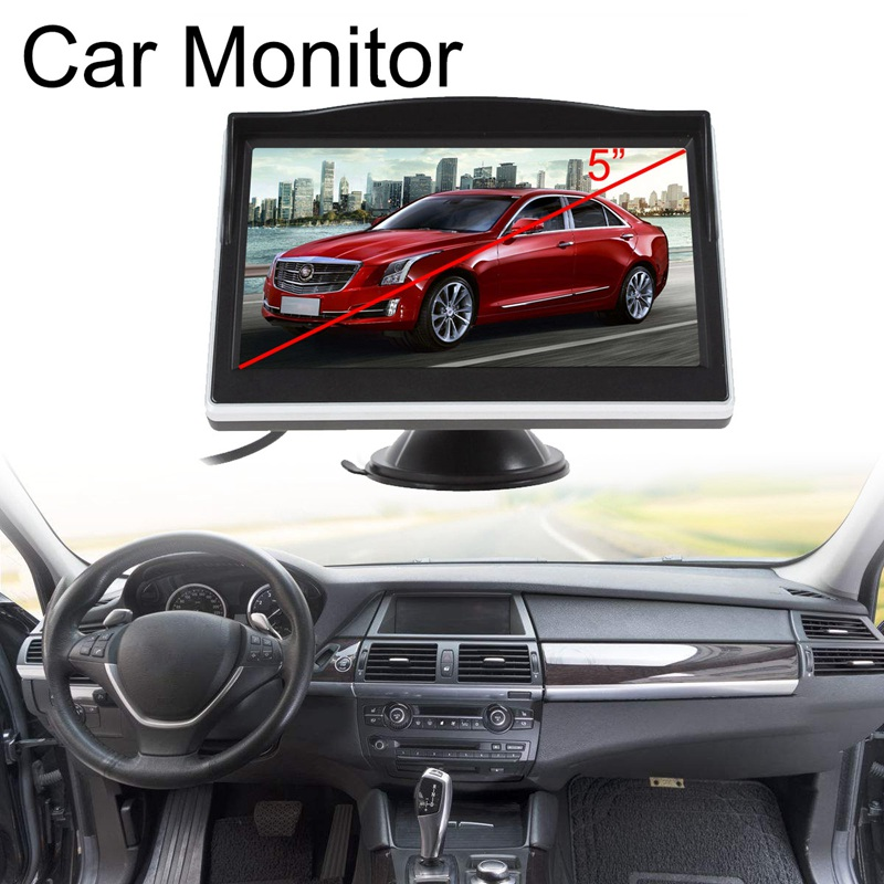 5 Inch TFT LCD HD Screen Monitor Car Rearview Reverse Backup Parking Camera Cam title=
