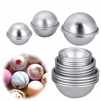 16pcs Semicircle Sphere Bath Mold Aluminium Alloy Bath Bomb Molds DIY Bathing Tool Salt Ball Homemade Crafting Gifts Mould