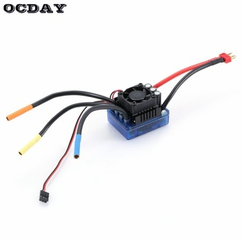 3670 2650KV/1900KV 4 poles Sensorless Brushless Motor with 120A Electronic Speed Controller Combo Set for 1/8 RC Car Truck ht