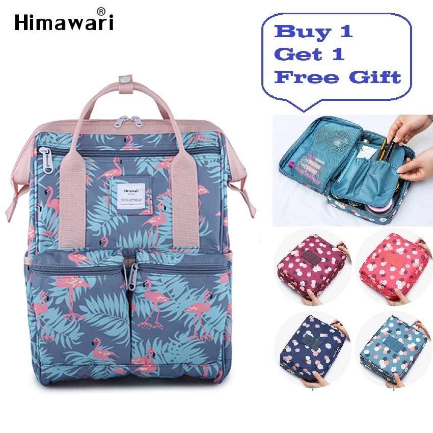 Himawari Fashion Backpack Women Laptop Travel Backpack Female Waterproof Casual Schoolbags For Girls Anti Theft Bags