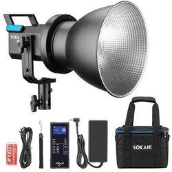 Sokani X60 kit COB LED Video Light 80W 5600K Daylight With 2.4G Remote Controller 5 Pre-Programmed Lighting Effects