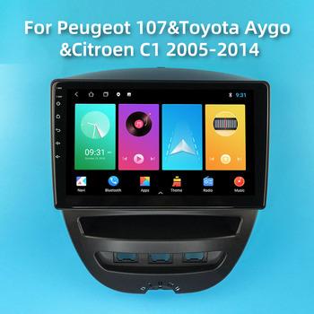 Z systemem Android 2 Din samochód Radio Stereo dla Peugeot 107 Toyota Aygo Citroen C1 2005-2014 10 1 #8222 ekran samochodowy odtwarzacz multimedialny Navigtion GPS tanie i dobre opinie 500 Miles CN (pochodzenie) podwójne złącze DIN Rohs 10 1 45W*4 JPEG Plastic Glass 1024*600 1280*720 1 95kg bluetooth