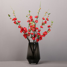 Simulation peach blossom plum plastic fake flower living room decoration home single bouquet simulation