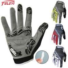 Teleyi vélo femmes hommes 3 couleurs gants de cyclisme écran tactile anti-dérapant doigt complet gants imperméable coupe-vent gants de vélo