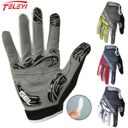 Teleyi Bike Women Men 3 colors Cycling Gloves Touch Screen Anti-slip Full Finger Gloves Waterproof Windproof Bicycle Gloves