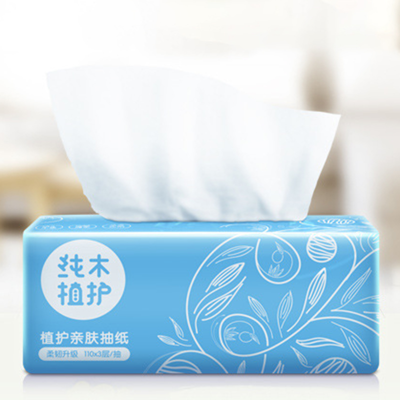 Plant Protection Log Pumping Paper 6 Packs / Group Of Facial Tissue Paper Tissues Disposable Soft Tissue Paper Home Car Outdoor