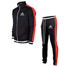 Брендовые мужские спортивные костюмы, спортивные костюмы, мужской костюм для бега, Быстросохнущий мужской спортивный костюм размера плюс