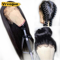 Vrvogue Hair 360 Frontal Lace Wig Straight Lace Wig Pre Plucked Lace Front Human Hair Wigs Malaysian Hair Wigs For Black Woman