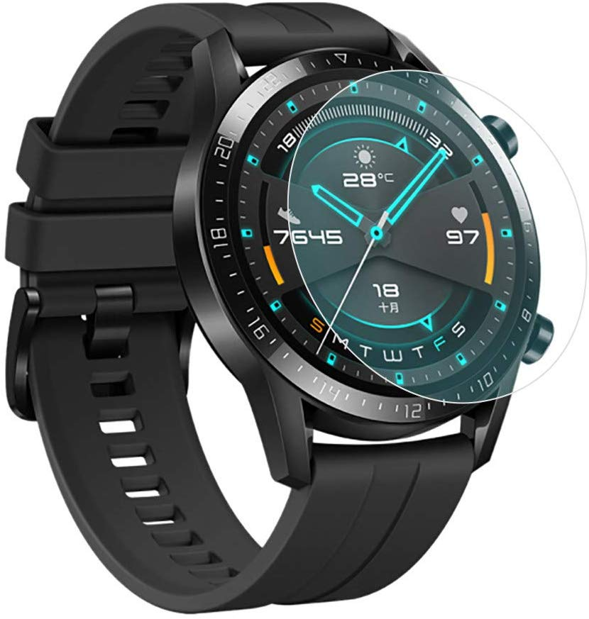 Tempered Glass Screen Protection Film For Huawei Watch GT 1 GT 2 46mm 9H LTE 2.5D Round Edge Anti-scratch Clear Protective Cover