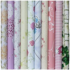 Image 2 - 10メートル * 45センチメートル子供韓国pvc壁紙自己接着防水ベビーウォールステッカークリーパー寝室暖かいヨーロッパ小さな花