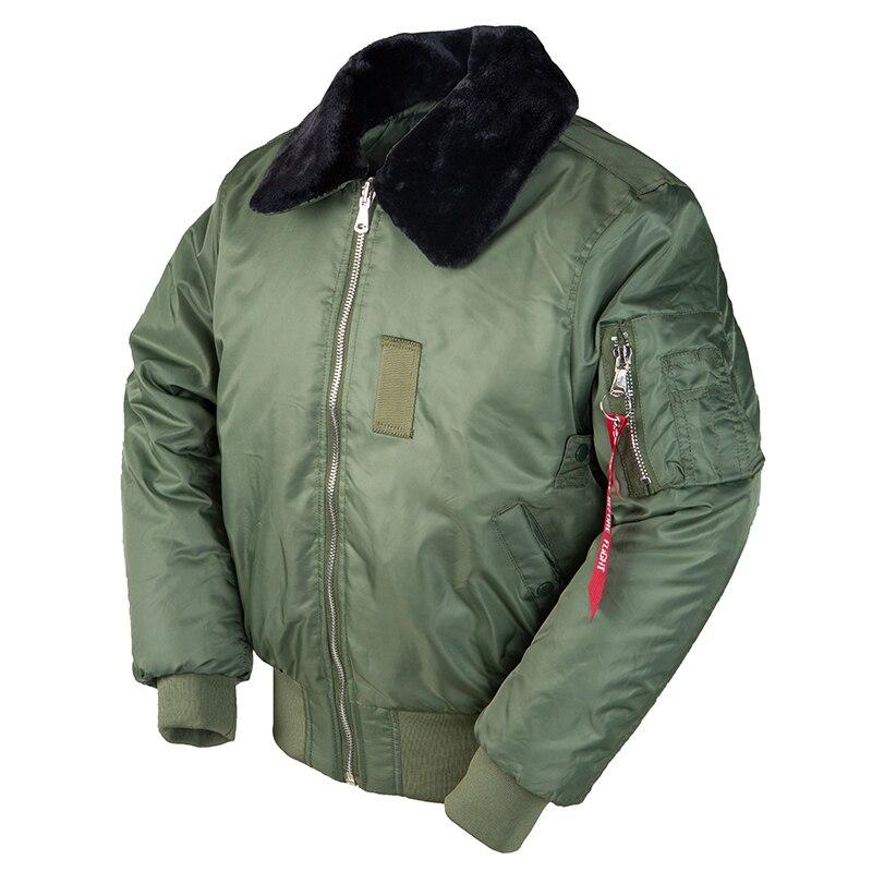 2019AW зимняя винтажная B-15 куртка-бомбер для полетов ВВС США куртка-пилот уличная куртка военная куртка в стиле хип-хоп тактическая армейская ...