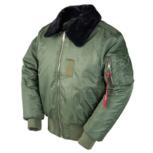 2019AW invierno vintage B-15 bombardero vuelo us chaqueta de piloto de Fuerzas Aéreas streetwear abrigos militar hip hop militar táctico para hombres de piel