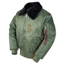 2020AW winter vintage B-15 bomber flight us air force pilot jacket streetwear coats military hip hop tactical army for men fur