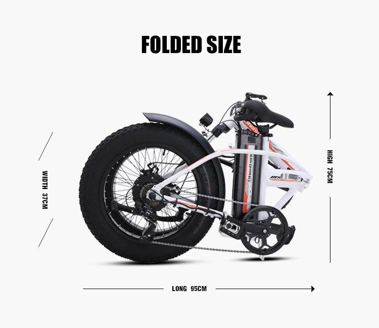 Электрический велосипед, 20 дюймов, складной электрический велосипед, 500 Вт, 48 В, батарея для горного велосипеда, электровелосипед, Электриче... - 5