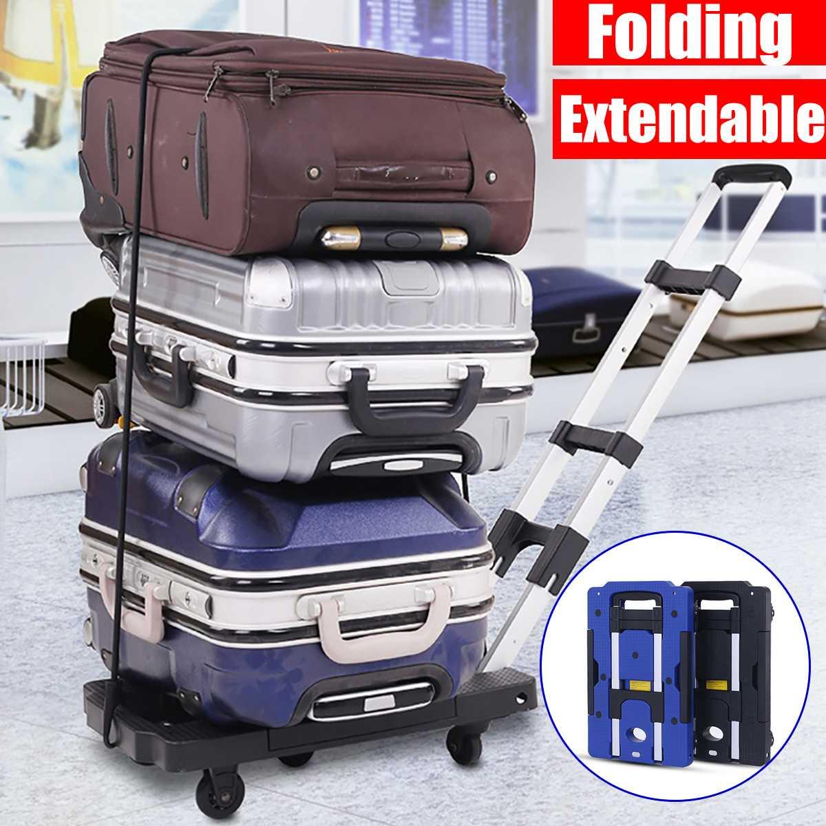 Портативный складной тележка для перевозки багажа для автомобиля Дорожный чемодан доставка прицеп регулируемая ручка шасси
