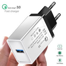 Quick Charge 3.0 USB Charger QC3.0 Fast Charging EU US Plug Adapter Wall