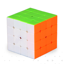 Qiyi Thunderclap 4X4 Mini Magic Cube Drop Verzending-Stickerloze/Wit