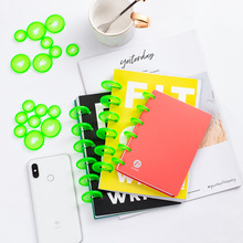 24mm 20PCS loose-leaf binding ring buckle notebook color disc mushroom hole hand book learning supplies