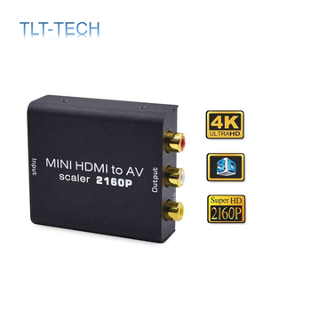 4K HDMI TO AV Adapter HD Video Converter HDMI to RCA AV/CVSB L/R Video 480P 720P 1080P 2160P Support NTSC PAL HDMI2AV leshp 1080p hdmi to av converter female to female hdmi to 3 rca audio video av adapter converter support pal ntsc for hdtv dvd