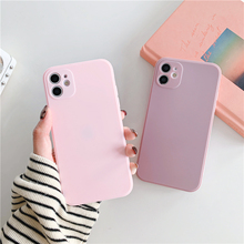 Square Frame Matte Soft Silicone Phone Case For iPhone 12 Mini 11 Pro XS Max X XR 6S 7 8 Plus SE 2020 Full Protection Back Cover