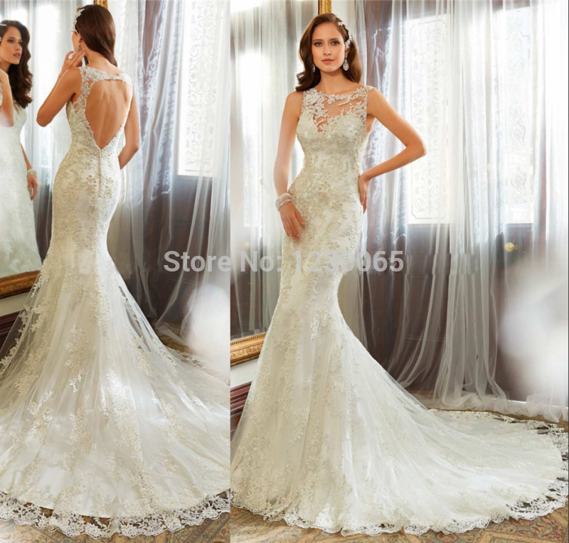 Long Romantic Bridal Gown 2018 Casamento Lace Appliques Vestido De Noiva Sexy Backless Mermaid  Mother Of The Bride Dresses