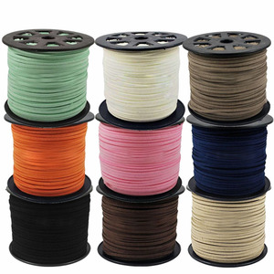 Image 1 - 100 Yard/roll 4mm/5mm Korean Leather Faux Suede Lace Cord String Rope Thread DIY Bracelet Necklace Findings DIY Beading