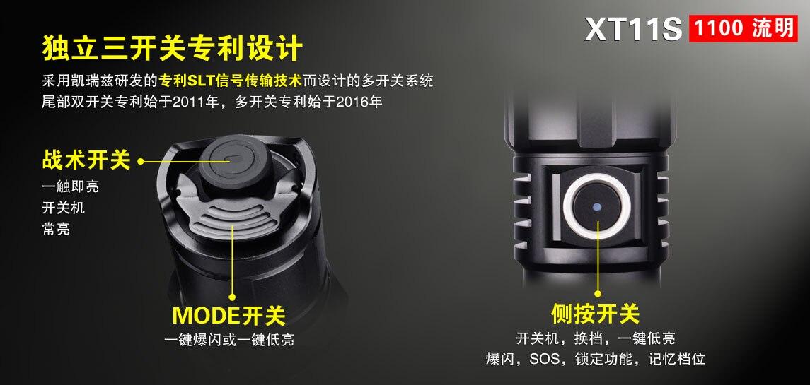 Klarus xt11s led lanterna cree XP-L oi
