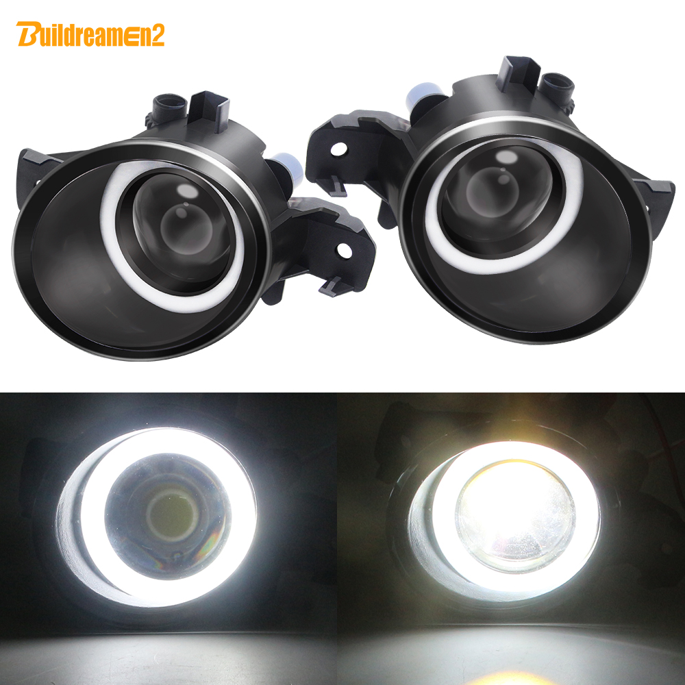 2 X Angel Eye Fog Light Car Front LED Fog Lamp White For Renault Clio VelSatis Koleos Modus Thalia Master Laguna Espace Symbol