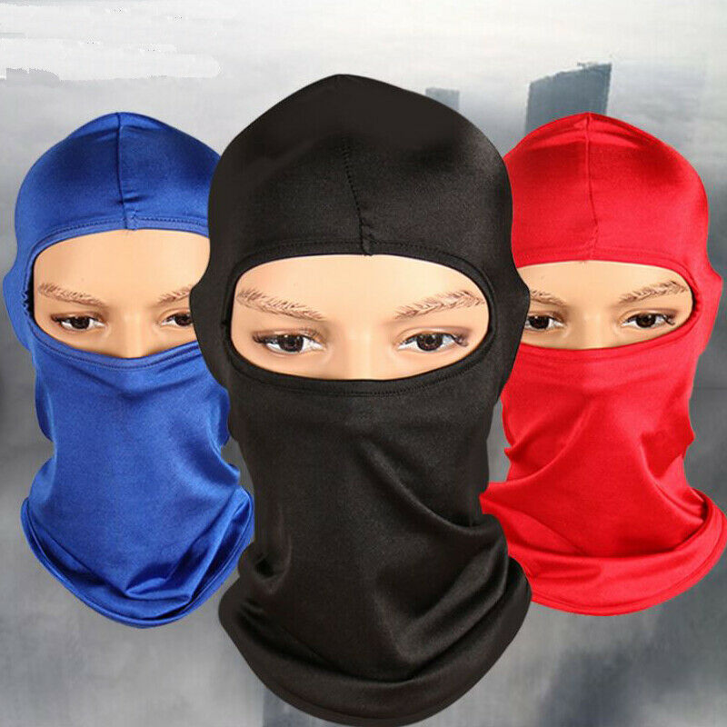 Ultra Thin Outdoor Face Mask Ski Motorcycle Cycling Balaclava Lycra Full Face Mask Neck Windproof 3FS