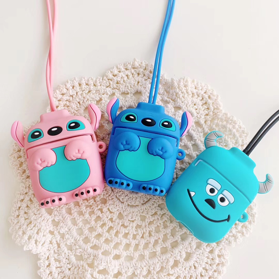 For AirPods i30 for <font><b>air</b></font> <font><b>pods</b></font> 2 i12 <font><b>tws</b></font> i10 i11 <font><b>i9s</b></font> i60 Cute Cartoon with Anti-lost rope silicon case For AirPods Earphone cover image